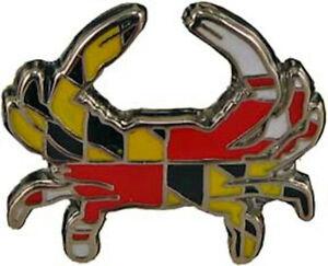 Maryland Flag  Crab  Lapel Pin hat pin