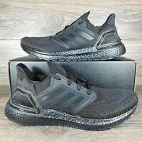 Adidas Ultra Boost 20 'Triple Black' Running Shoes (EG0691) Men's Sizes