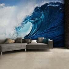 Large bedroom & living room paper wallpaper 232x315cm Blue Ocean WAVE wall decor