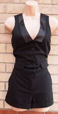 TOPSHOP BLACK FORMAL BUTTONED FRONT TUXEDO  PLAYSUIT JUMPSUIT ALL IN ONE 8 S