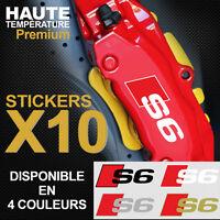 Stickers autocollants adhésif étrier de frein AUDI S6 Quattro S-line A6 RS6 TFSI