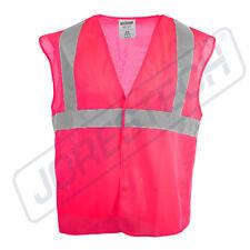 Safety Vest Pink Reflective Tape High Visibility Jorestech