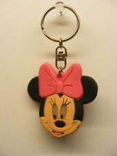 Disney's mickey rubber pink  3in. MINNIE MOUSE KEYCHAIN