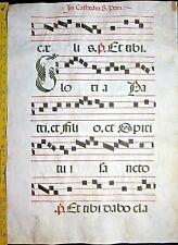 Huge deco.Antiphonary Manuscript Lf.Vellum,unusual G initial,c.1500 #102