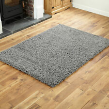Shaggy Modern Rug X Large 5cm Thick Non Shed Anthracite Dark Grey Best Area Rugs