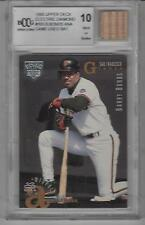 Barry Bonds 1995 Upper Deck Electric Diamond With Game Used Bat  BCCG 10