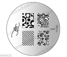 KONAD STAMPING NAIL ART DESIGN TEMPLATE IMAGE PLATE M65
