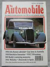 The Automobile magazine 07/1991 featuring Wolseley, Hotchkiss, Alfa Romeo