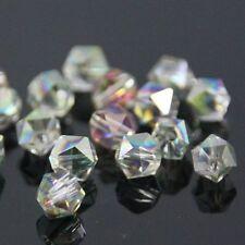 12 Pcs Swaro-element  6mm split facet Crystal beads D Rose Green