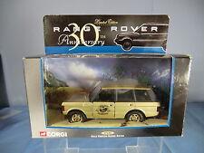 """CORGI modello no.57606 RANGE ROVER"""" 30th anniversario oro dipinta """"Ltd. Edition Nuovo di zecca con scatola"""