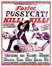 FASTER PUSSYCAT KILL KILL LOBBY CARD POSTER OS 1965 RUSS MEYERS TURA SATANA HAJI