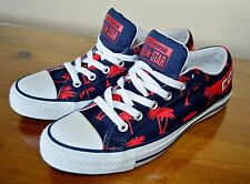 NEW CONVERSE Blue and Red Palm Tree Print Canvas Trainers / Shoes UK size 6.5
