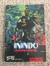 Inindo Way of the Ninja Super Nintendo SNES Instruction Manual Only
