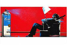 Mr Brainwash Max Tomato Spray Promo Print rare red print warhol pop art banksy