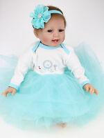 22'' Reborn Baby Girl Doll Soft Silicone vinyl Newborn toys Dolls Kids Xmas Gift