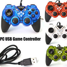4 Colors - Wired USB Gamepad Double Shock Game Controller Joypad for PC & Laptop