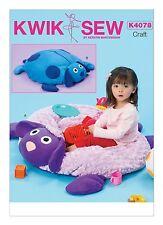 Kwik Sew SEWING PATTERN K4078 Zipped Ball Pit/Toy Storage,Lamb & Dog