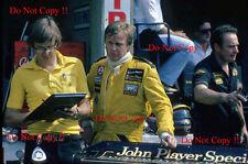Ronnie peterson jps lotus F1 portrait photographie de 1978 2