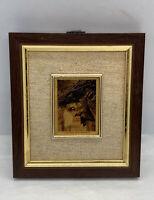 """Vintage Miniature Wall Art Creazioni Artistiche Jesus ITALY 4-1/8""""x4-3/4"""""""