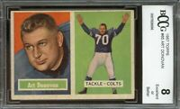 1957 topps #65 ART DONOVAN baltimore colts BGS BCCG 8