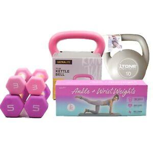 Weight Strength Training Gift Set Neoprene Dumbbells Ketllebell 3 6 5 10 15 lb
