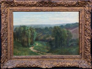 19th Century French Switzerland Passage Valley Landscape Georges Lafarge-Laujo