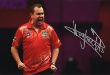 Kim Huybrechts, Belgian darts player, PDC, signed 12x8 photo. COA. Proof.