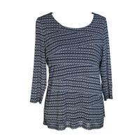 Alfani woman women's shirt pullover top black dot print 3/4 sleeves plus size 0X