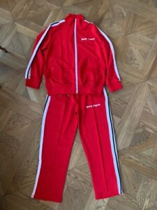 PALM ANGELS TRACKSUIT TRACK JACKET PANTS L SIZE RED