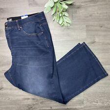 Terra E CIELO Jeans Bootcut controllo della pancia Taglia più 26 W Petite lavaggio scuro Nuovo con etichette