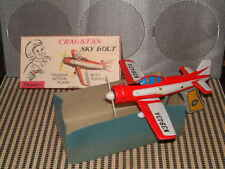 CRAGSTAN, FRICTION POWERED SKY BOLT PLANE PERFECTLY WORKING W/ROCKETS & BOX!