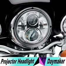 "7"" LED Chrome Projector Daymaker Headlight For Harley Davidson Touring"