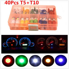 40Pcs Auto Car T5 T10 LED Bulb Instrument Panel Dashboard Light Lamp Indicator