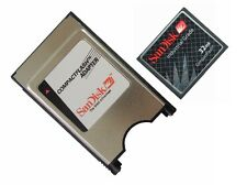 SanDisk 32MB CF Card +ATA PC Adapter = 32M PCMCIA Flash Disk For JANOME Machines