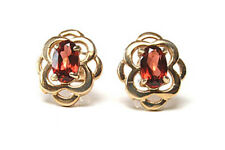 9ct Gold Garnet Celtic Stud Earrings Made in UK Gift Boxed Christmas present