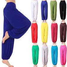 Damen Lose Yoga Hose Sporthose Fitness Genie Aladinhose Gym Haremshose Pumphose