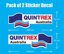 Laminated Decal Sticker Quintrex Boat Pack(2) 430mm x 150mm OFFER & FAST POSTAGE
