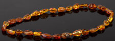 Baltic Amber necklace natural beads stone yellow egg bernstein #5807P