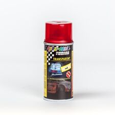 Vernice spray ROSSO TRASPARENTE lucida tuning auto fanali vetro 150ml DupliColor