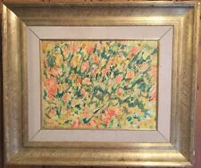 H. LLOYD WESTON (LISTED) FIELD OF YELLOW AND FLOWERS (TULIPS?)-OIL/CANVAS
