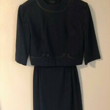 Late 1950's Early 1960 Two-Piece Lloyd Weill Navy Dress/Suit - Authentic Vintage