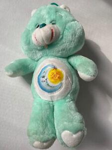 """Vintage 1983 Kenner Care Bears Bedtime Bear 13"""" Plush Moon Star Light Green"""