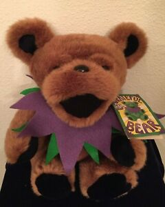 "12"" Jointed Brown Grateful Dead Plush Bear W/Tag Liquid Blue 1990 Steven Smith"