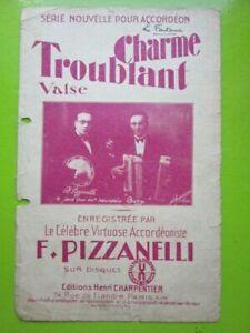 PARTITION Accordéon - CHARME TROUBLANT Valse - Musique F. PIZZANELLI