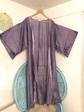 Long Silk Mix Kimono Peignoir Festival Indien Vintage Boho Gypsy 10 12 14 16