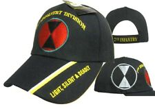 U.S. ARMY 7th Infantry DIVISION Light Silent Deadly Shadow Black Cap Hat