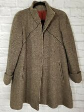 Jill Jr Forstmann Wool Coat Womens Size 8 Brown Tweed Jacket
