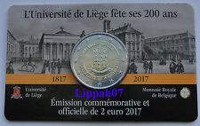 België speciale 2 euro 2017 Universiteit Luik in Coincard Waals
