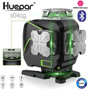 niveau laser huepar bluetooth S04CG vert 4d sur batterie sol plafond cloison