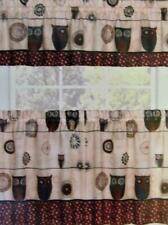 Novelty Jewel Tone Cafe Curtain Set of Tiers No Valance SPICE OWL 57 x 24 inch